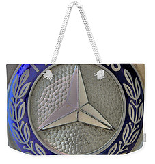 Mercedes Benz Badge Blue Weekender Tote Bag