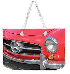 Weekender Tote Bag featuring the photograph Mercedes Benz Vintage by The Art of Alice Terrill