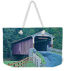 Mercer's Mill Covered Bridge Weekender Tote Bag