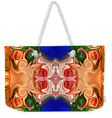 Weekender Tote Bag featuring the digital art Merging Consciousness With Abstract Artwork By Omaste Witkowski  by Omaste Witkowski