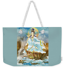 Weekender Tote Bag featuring the photograph Merit King Kuan Yin by Lanjee Chee