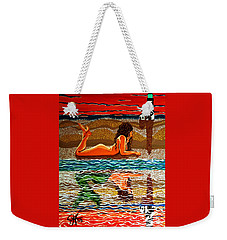Mermaid Day Dreaming  Weekender Tote Bag by Jackie Carpenter
