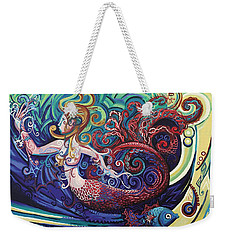 Mermaid Gargoyle Weekender Tote Bag by Genevieve Esson