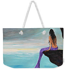Mermaid Oasis Weekender Tote Bag by Leslie Allen