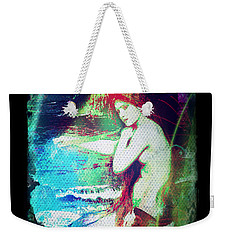 Weekender Tote Bag featuring the digital art Mermaid Of The Tides by Absinthe Art By Michelle LeAnn Scott
