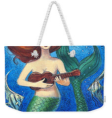 Mermaid Ukulele Angels Weekender Tote Bag