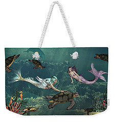 Mermaids At Turtle Springs Weekender Tote Bag