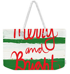 Merry And Bright- Greeting Card Weekender Tote Bag