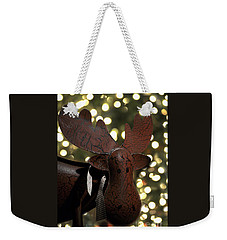 Weekender Tote Bag featuring the photograph Merry Chrismoose by Diane E Berry