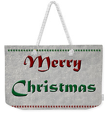 Merry Christmas Weekender Tote Bag by Aimee L Maher Photography and Art Visit ALMGallerydotcom