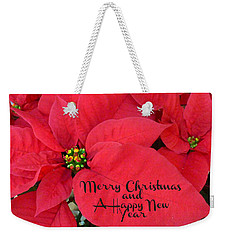 Christmas Poinsettia Weekender Tote Bag by William Tanneberger