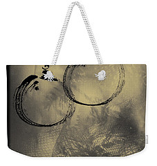 Weekender Tote Bag featuring the mixed media Merry Christmas Card by Peter v Quenter