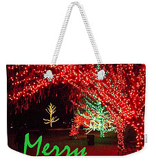 Weekender Tote Bag featuring the photograph Merry Christmas by Darren Robinson