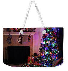 Weekender Tote Bag featuring the photograph Merry Christmas From My Home To Yours by Trish Mistric
