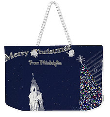 Merry Christmas From Philly Weekender Tote Bag by Photographic Arts And Design Studio