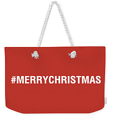 Merry Christmas Hashtag Weekender Tote Bag
