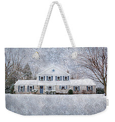 Wintry Holiday Weekender Tote Bag