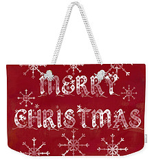 Weekender Tote Bag featuring the painting Merry Christmas by Jocelyn Friis