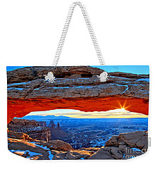 Mesa Arch Sunrise Weekender Tote Bag by Adam Jewell
