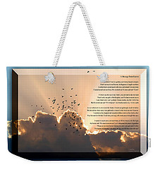Message From Heaven Weekender Tote Bag
