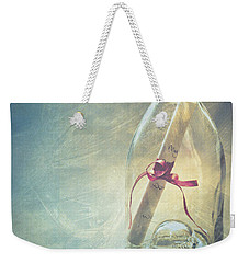 Message In A Bottle Weekender Tote Bag by Jan Bickerton