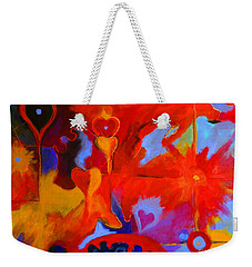 Weekender Tote Bag featuring the painting Message Of Love by Alison Caltrider