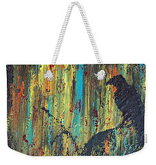 Weekender Tote Bag featuring the painting Messenger by Jacqueline McReynolds