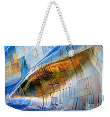 Weekender Tote Bag featuring the photograph Metal Wave by Chris Anderson