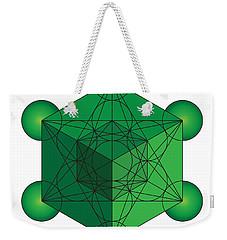 Metatron's Cube In Green Weekender Tote Bag