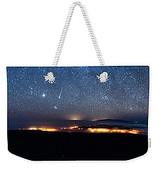 Meteor Over The Big Island Weekender Tote Bag
