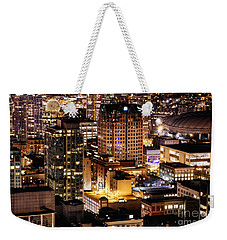 Weekender Tote Bag featuring the photograph Metropolis Vancouver Mdccxv  by Amyn Nasser