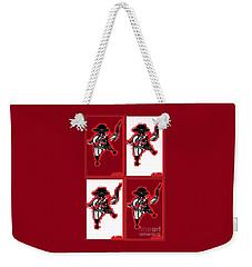 Weekender Tote Bag featuring the digital art Feista 2 by Ann Calvo