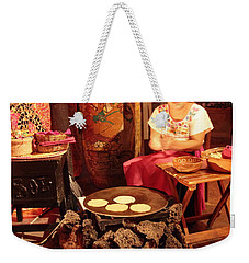 Mexican Girl Making Tortillas Weekender Tote Bag by Roupen  Baker