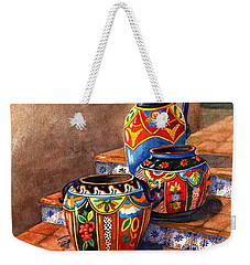 Mexican Pottery Still Life Weekender Tote Bag