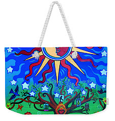 Mexican Retablos Prayer Board Small Weekender Tote Bag by Genevieve Esson