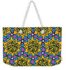 Weekender Tote Bag featuring the digital art Mexican Sun / African Violet by Elizabeth McTaggart