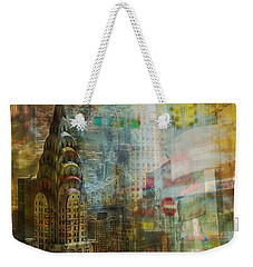 Mgl - City Collage - New York 04 Weekender Tote Bag by Joost Hogervorst