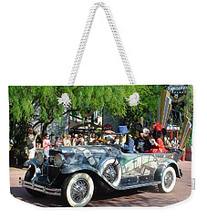 Weekender Tote Bag featuring the photograph Mgm Famous 4 by David Nicholls