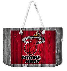 Miami Heat Barn Door Weekender Tote Bag by Dan Sproul