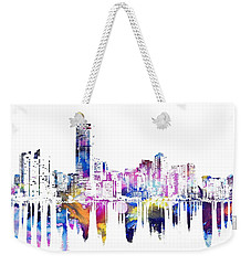Miami Skyline Weekender Tote Bag by Doc Braham