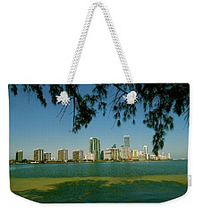 Miami Skyline Weekender Tote Bag