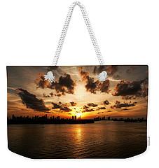 Miami Skyline Sunset Weekender Tote Bag
