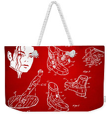 Michael Jackson Anti-gravity Shoe Patent Artwork Red Weekender Tote Bag