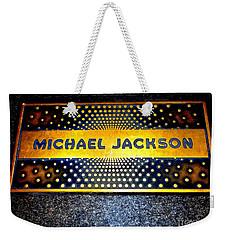 Michael Jackson Apollo Walk Of Fame Weekender Tote Bag by Ed Weidman