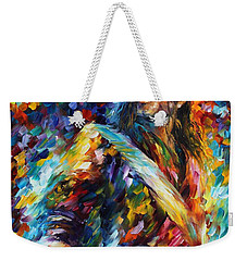 Michael Jackson - Palette Knife Oil Painting On Canvas By Leonid Afremov Weekender Tote Bag