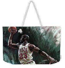 Michael Jordan Weekender Tote Bag by Ylli Haruni