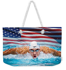 Michael Phelps Artwork Weekender Tote Bag