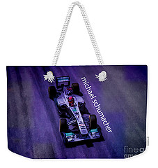 Michael Schumacher Weekender Tote Bag by Marvin Spates