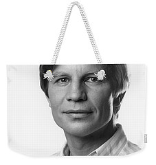 Weekender Tote Bag featuring the photograph Michael York by Mark Greenberg