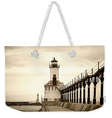 Michigan City Lighthouse Weekender Tote Bag